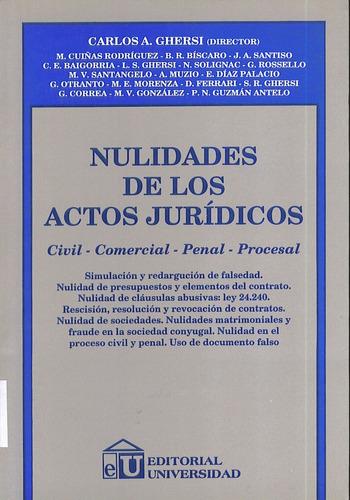 nulidades de los actos jurídicos