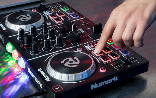 numark dj party mix controlador dj mixer usb show de luces