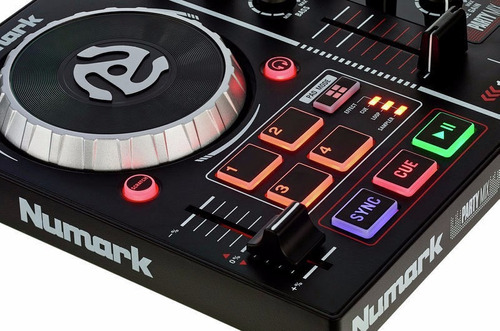 numark dj party mix controlador para dj luces incorporadas