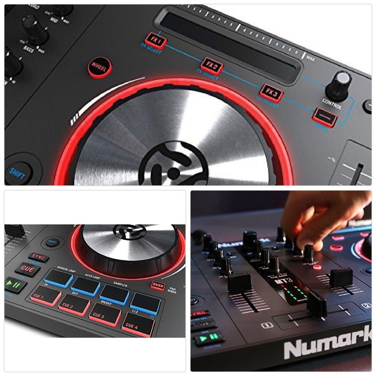 Numark Mixtrack 3 Dj Controller Jog Wheels Pro Dj Intro