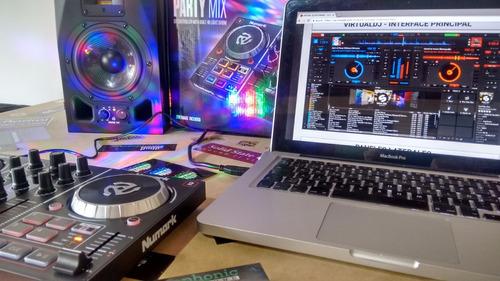 numark party mix controlador de dj con software virtual dj