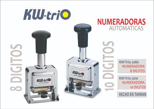 numeradoras automaticas  para oficinas kwtrio