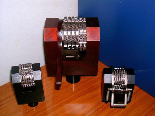 numeradores, fechadores, hot stamping y grabados a pedido