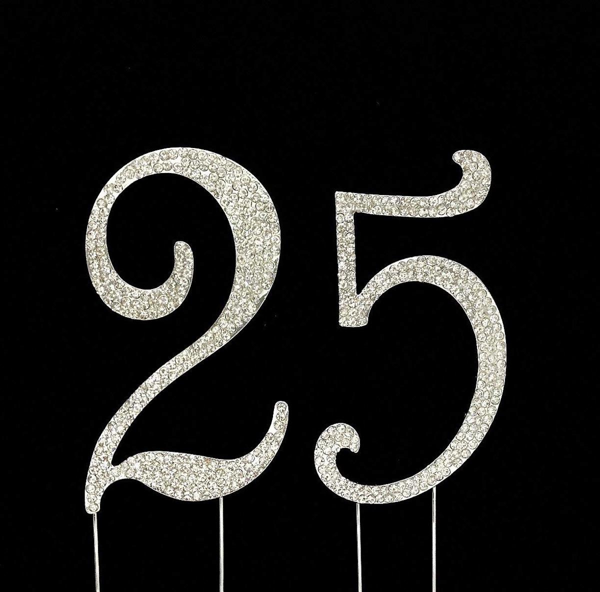 Numero 25 Para El 25 Cumpleanos O Fiesta De Adorno De Tort