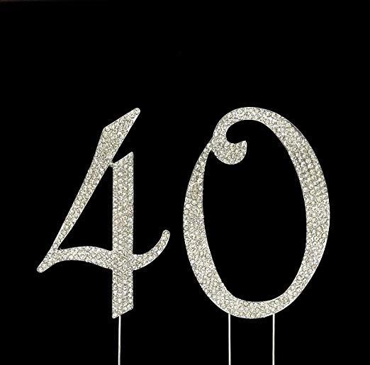 Imagenes De Cumpleanos Numero 40.Numero 40 Para El 40 Cumpleanos De Suministros De Decoracion