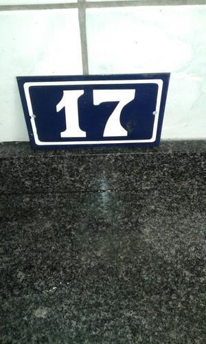 número casa antigo esmaltado. placas
