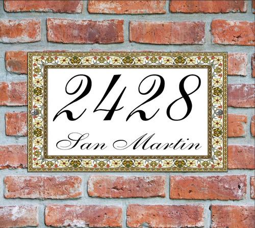 numero de casa - cartel domicilio - diseño 10
