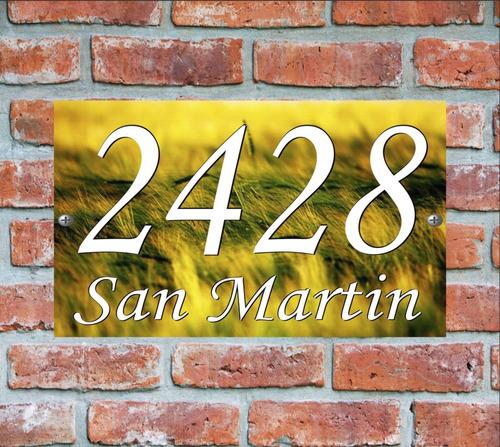 numero de casa - cartel domicilio - diseño 13