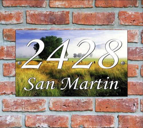 numero de casa - cartel domicilio - diseño 14