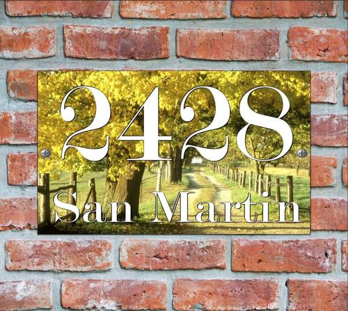 numero de casa - cartel domicilio - diseño 16