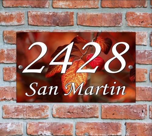 numero de casa - cartel domicilio - diseño 17