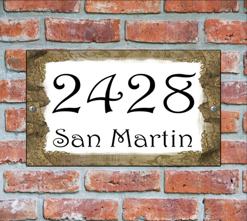 numero de casa - cartel domicilio - diseño 3
