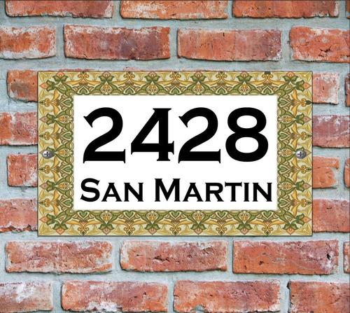 numero de casa - cartel domicilio - diseño 4