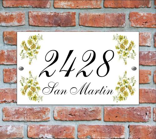 numero de casa - cartel domicilio - diseño 5