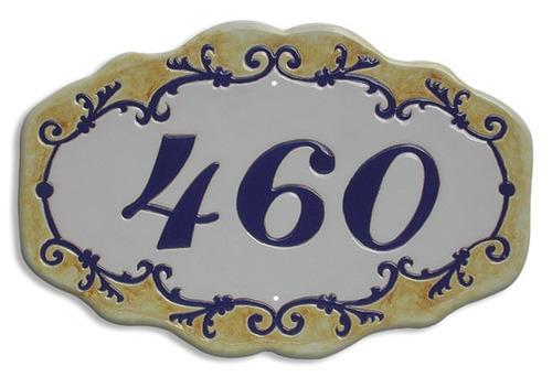 N mero de casa n mero de casa em azulejo decorado r for Azulejo numero casa