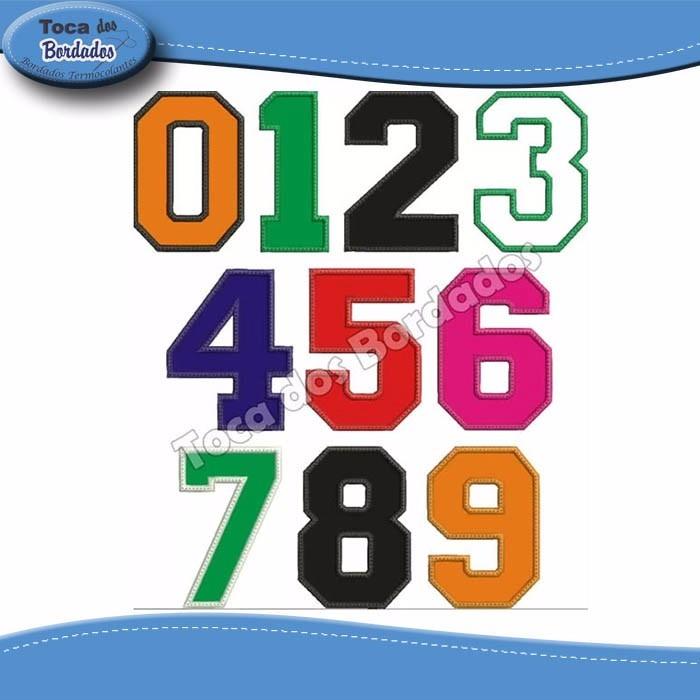 b869f689c9934 Numero De Tecido Bordado Para Camisa Futebol Tam.25cm Altura - R  25 ...