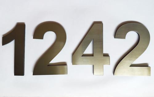 número domiciliario 10cm frentes casas acero inoxidable 4mm