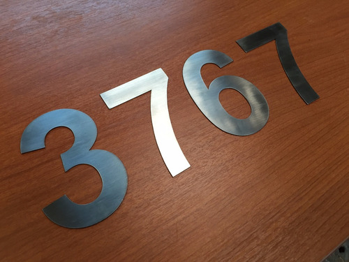 número domiciliario 15 cm frente casa edific acero inox 1mm