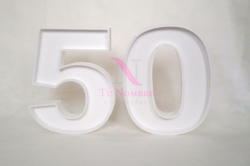 numero letras huecas 20cm hotsale belgrano polyfan rellenar