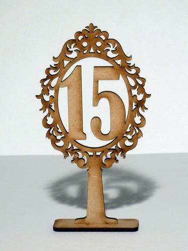 numero mesa fibrofacil 15 cm alto x 8 cm ancho x unidad