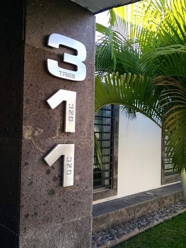 número para casa modern house number 15 cm.