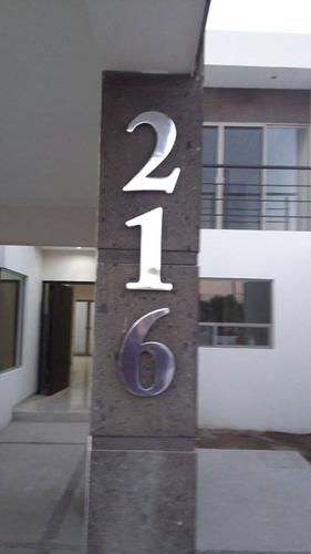 número residencial de aluminio modelo bismark 30cm