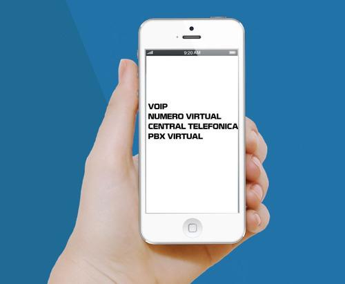 numero virtual pbx central telefonica callcenter oficina