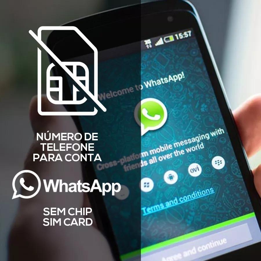 71e5f99315 Numero Virtual Sem Chip P  Criação Contas Whatsapp