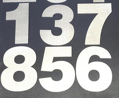 numeros acero inoxidable 12cm frentes casa x 3 unid verashop
