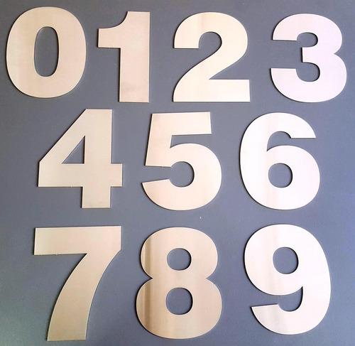 numeros acero inoxidable 25cm frentes casa 4 unid verashop