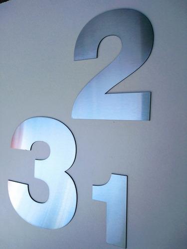 números acero inoxidable 8 cm dirección frente casa