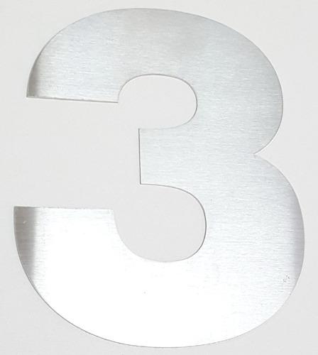 numeros acero inoxidable 8 cm frentes domiliario 2 unidades