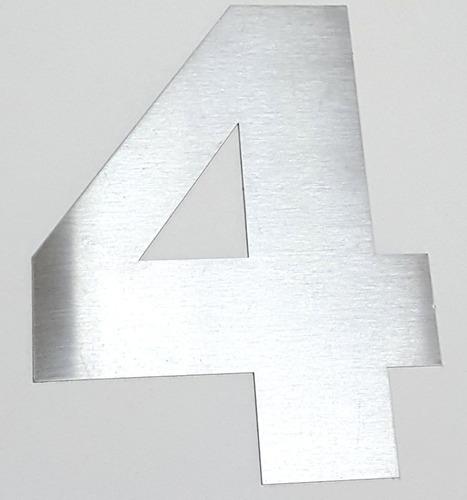numeros casa de 15 cm acero inoxidable x 3 unidades verashop