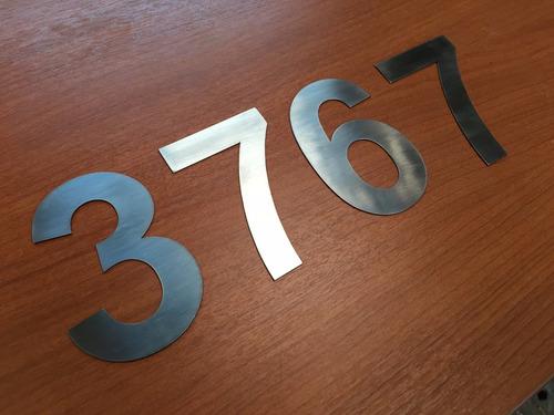 numeros de acero inoxidable 10cm metal casas 1mm 1unidad