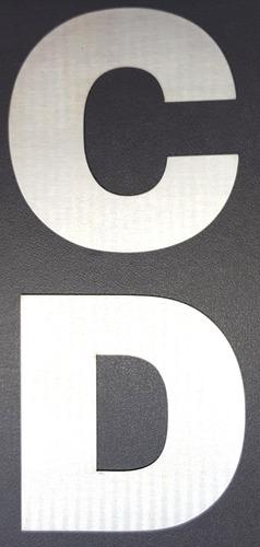 numeros de acero inoxidable 12cm frentes de casa 4 unidades