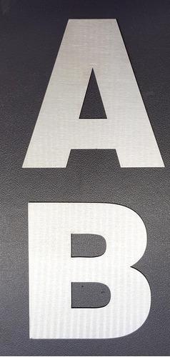 numeros de acero inoxidable 12cm frentes de casa x 4 unida
