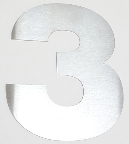 numeros de acero inoxidable 15cm frentes de casa x 3 unidad