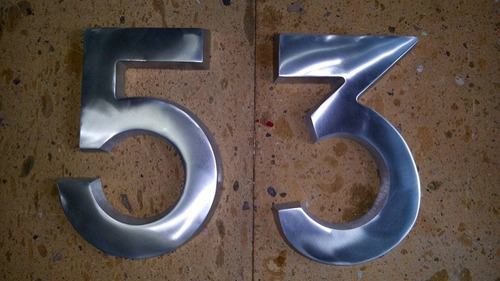números de aluminio para casa o negocio