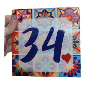 Números De Casas Em Azulejo Personalizados 20x20