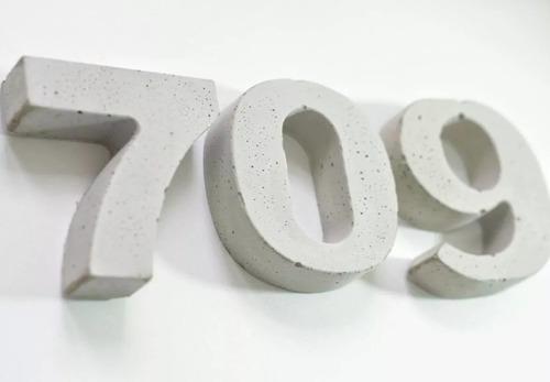 números de cemento 9 cm alto - frente - casa - exterior