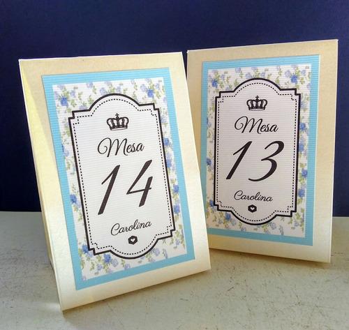 números de mesa casamiento quince años bar bat cumpleaños