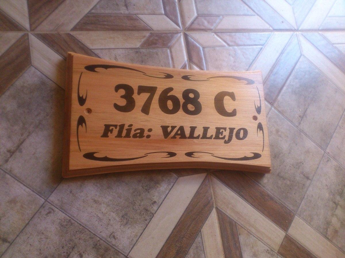 Numeros De Puerta En Madera,para Exterior - $ 700,00 en Mercado Libre