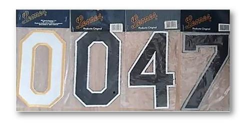 números de tela para pegar o bordar uniforme beisbol futbol
