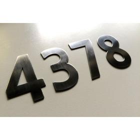 Números Dirección Frente De Casa Acero Inoxidable 5cm