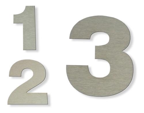 numeros domicilio frente casa 12cm  x 4 unidades acero inoxidable verashop