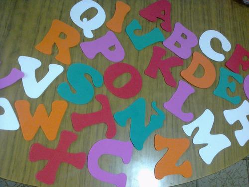 numeros en goma eva  del 0 al 9  abecedario completo figuras