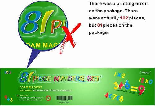 números magnéticos spritegru 102pcs para el sistema de matem