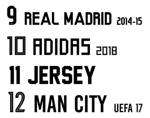 numeros nombres vinilos estampados futbol deportes conjuntos