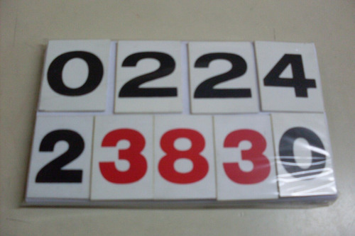 numeros para carteles quiniela -2,50x4,50alto - congreso