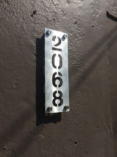 numeros para oficina departamentos en aluminio 35 cms